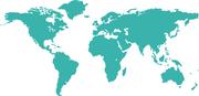 World Map SVG Cut File #1