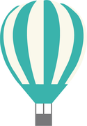 Hot Air Ballon SVG Cut File
