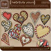 HeArtfully Yours Stamps & Rub-Ons