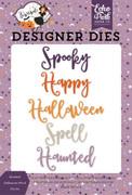 Haunted Halloween Word Die Set