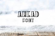 Ahead Font