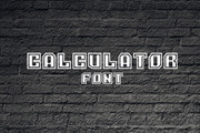 Calculator Font