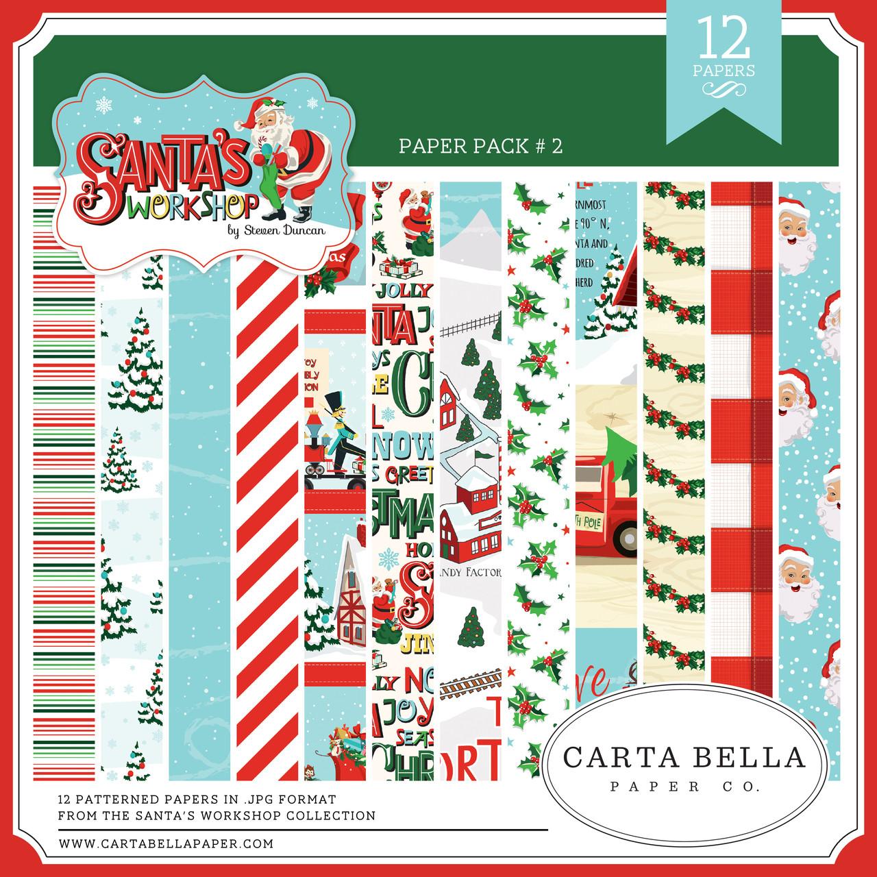 santa s workshop paper pack 2 snap click supply co