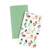 Mermaid Travelers Notebook Insert - Daily Calendar