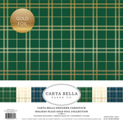 Holiday Plaid Gold Foil Collection Kit