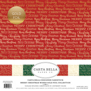 Merry Christmas Words Gold Foil Collection Kit
