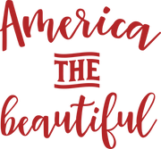 America The Beautiful SVG Cut File