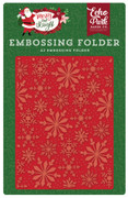 Merry & Bright Embossing Folder - Frosted Snowflakes