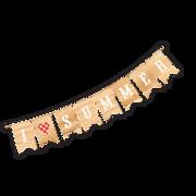I Heart Summer Banner SVG Cut File