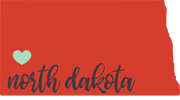 North Dakota State SVG Cut File