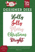 Holly Jolly Christmas Word Die Set