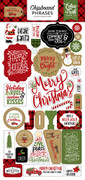 Celebrate Christmas Chipboard Phrases