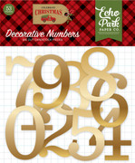 Celebrate Christmas Gold Foil Numbers