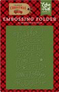 Celebrate Christmas Embossing Folder - Reindeer Names