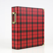 Red Plaid 6x8 Album
