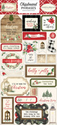 Christmas Chipboard Phrases