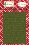 Christmas Embossing Folder - Merry Christmas