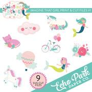 Imagine That Girl Print & Cut Files #1