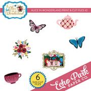 Alice In Wonderland Print & Cut Files #2