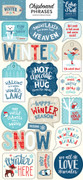 Celebrate Winter Chipboard Phrases