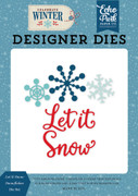 Let It Snow Snowflakes Die Set