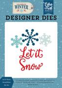 Let It Snow Snowflakes Die Set