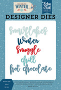 Winter Chill Word Die Set