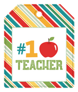 #1 Teacher Tag Print & Cut File