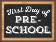 First Day Of Pre-School Print & Cut File