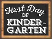 First Day Of Kindergarten Print & Cut File