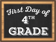 First Day Of Fourth Grade Print & Cut File