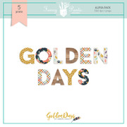 Golden Days Alphabet Sets