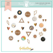 Golden Days Flair, Clips and Cork Embellishments