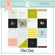 Take Note Flash Cards Set