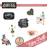 Coffee Print & Cut Files #1