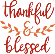 Thankful & Blessed #4 SVG Cut File