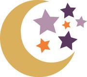 Moon & Stars SVG Cut File