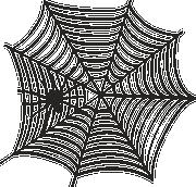 Spider Web #3 SVG Cut File