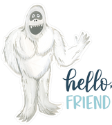 Hello Friend Print & Cut File