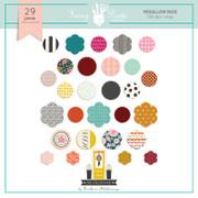 The Yellow Door Medallion Stickers