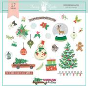 Cottage Christmas Ephemera Pack 1
