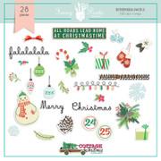 Cottage Christmas Ephemera Pack 2
