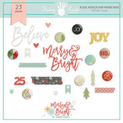 FPD Merry and Bright Flair, Washi and Acrylic DesignSet