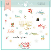 FPD Merry and Bright Rub-ons Pack
