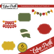 Thanksgiving SVG Cut Files #1