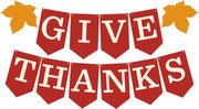 Give Thanks Pennant Banner SVG Cut File