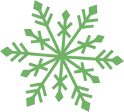 Merry & Bright Snowflake #4 SVG Cut File