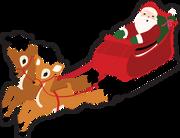 Santa's Sleigh Print & Cut File