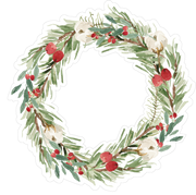 Christmas Wreath Print & Cut File