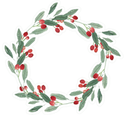 Christmas Wreath #2 Print & Cut File